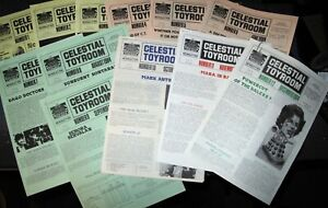 Doctor Who CELESTIAL TOYROOM (DWAS Newsletter) FANZINE / 1984 Issues 1-12 (12)