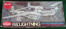Guillow's Kit Lockheed P-38L WW2 Lightning Airplane Balsa Flying Model Kit