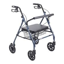 Drive 10215 BL 1 Heavy Duty Bariatric Rollator Walker With Large Padded Seat