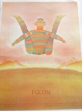 Jean-Michel Folon French Pop Artist Tightrope Walker for Galarie Exhibition
