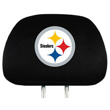 Pittsburgh Steelers Vehicle Head Rest Covers 2 Pack Set Car Truck NWT
