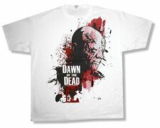 "DAWN OF THE DEAD ""HEAD JUMBO PRINT"" ZOMBIE WHITE T-SHIRT NEW OFFICIAL ADULT 2XL"