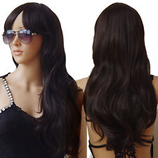 long cosplay wig halloween black straight wave hair anime part costume full wigs