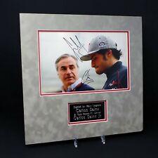 Carlos SAINZ Jnr & Snr Double Signed Mounted 12x8 Photo Display AFTAL RD COA