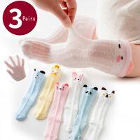 Summer Child Kid Baby Infant Socks Long Knee High Thin Sock Cotton 3Pairs School