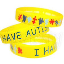 1PC I Have AUTISM Wristbands Alert Medical ID Silicone Bracelet Emergency Cuff