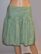 J. Crew Womens Striped Skirt Side Zipper Green 2