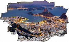 Rio de Janeiro Brasilien Skyline Wandtattoo Wandsticker Wandaufkleber C2960
