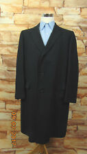 Vintage Mens Hudson's Men's Store Gray Wool Trench Coat  Long w/ lining Size 45