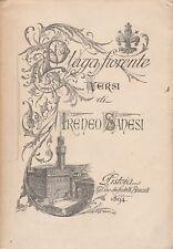 (Ireneo Sanesi) PLAGA FIORENTE 1894   Bracali