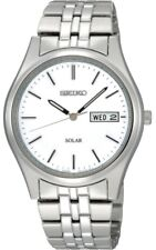 Seiko Gents Solar Stainless Steel Watch SNE031P1-NEW