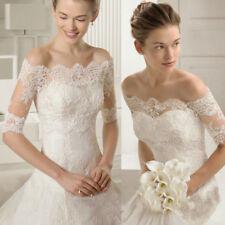 Off Shoulder Wedding Jacket Lace Soft Bridal Boleros Half Sleeve Wraps Shrugs