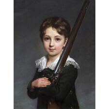 Vigee-Lebrun Portrait Young Boy Rifle Painting Large Canvas Art Print