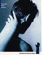 PUBLICITE ADVERTISING 035  1986  PIERRE CARDIN  eau de toilette MARINE pour homm