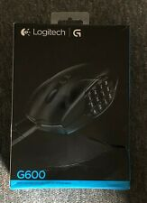 Used Logitech G600 MMO Laser Gaming Mouse - Black, 20 Buttons, 8200 DPI