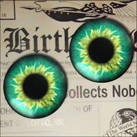 Green Glass Eyes Realistic Fantasy Taxidermy Eyeball 16mm Set