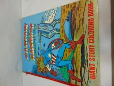 """VINTAGE (1978) CAPTAIN AMERICA GIANT STORY COLORING BOOK 17"""" X 22"""""""