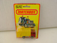 1980 MATCHBOX LESNEY SUPERFAST #36 REFUSE TRUCK NEW ON DAMAGED CARD