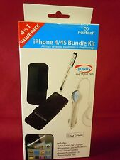 Naztech Wireless Essentials 4 in 1 Bundle Kit for Apple iPhone 4 and 4S