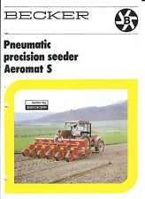 Farm Equipment Brochure - Becker - Aeromat S - Precision Seeder (F4846)