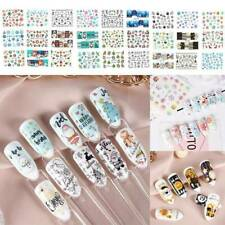 Color 30 Sheets Christmas Nail Art Water Transfer Stickers Winter Decals