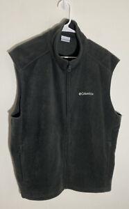 Columbia Mens Fleece Vest Jacket Xl Gray