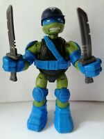 "2013 TMNT Leonardo Action Figure Viacom Teenage Mutant Ninja Turtles 5"" + Access"