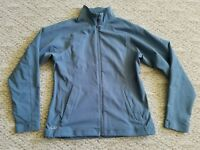 EUC OUTDOOR RESEARCH WOMEN'S SOFT SHELL JACKET COLOR BLUE SIZE LARGE L HIKE CAMP