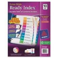 "Avery Table Of Contents Index Divider - Print-on - 9"" X 11"" - 10 / Set -"