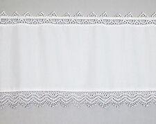 Scheibengardine Panneau Spitzengardine Weiße Landhausgardine Annie 30 x 110 cm