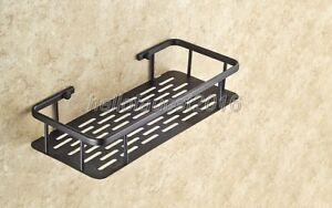 30cm Oil Rubbed Bronze Wall Mounted Bathroom Shower Shelf Storage Basket Lba528