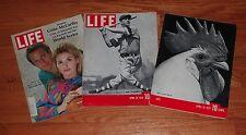 Lot of (3) LIFE Magazines-Baseball Related-Gehrig/1968 World Series/'38 Baseball
