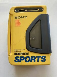 Sony Walkman Sports AM/FM Cassette Player WM-AF54 Yellow Tested/Works