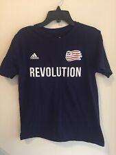 New England Revolution Soccer Adidas Nguyen 24, T-Shirt, Navy Blue Size L 14/16