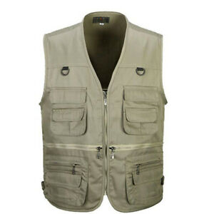 Men's Outdoor Multi-Pocket Vest Travel Fly Fishing Photography Quick-Dry Jacket