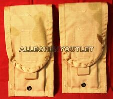 2 NEW US Military Double Mag Pouch Desert Camo, Molle Ammo Pouch
