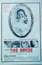 """""""THE BRIDE"""" her honeymoon was a NIGHTMARE in a dungeon of terror - Movie poster"""