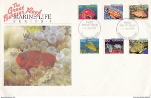 AUSTRALIA 18 JUNE 1984 GREAT BARRIER REEF O/S OFFICIAL FIRST DAY COVER SHS