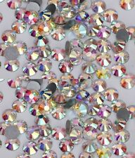 NEU Nail Art 40 Stück Kristalle Glas SS 6 1,9 - 2,0mm Irisierend 1A Qualität NEU