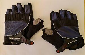 Cannondale Half Finger Gloves MTB Blue Black XL NEW