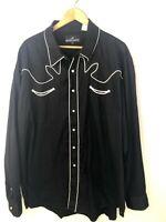 Western Express Long Sleeve Button Front Shirt Pearl Snap Mens 4XL