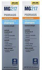 MG217 Psoriasis SHAMPOO MAX STRENGTH 3% Coal Tar 8oz  ( 2 pack )