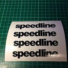 4x Speedline Wheel Logo Decal Sticker
