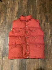 Vintage North Face Quilted Down Vest Mens XL Brown Tag Made in USA