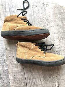 Next Boys Brown Desert Boots - Faux Suede - Plimsolls Sz13 UK - Kids Boots