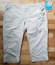Women's Columbia Suncast Capri Pfg Pants UPF 50 Tan Omni-shade Large L