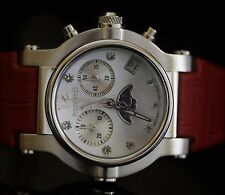 Renato Women's Beauty Limited Ed Swiss Quartz Chronograph Moon Phase Red Watch
