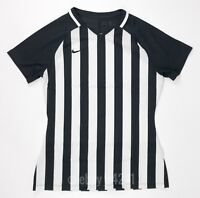 New Nike Women's M US SS Striped Division III Jersey Soccer Black White 894099