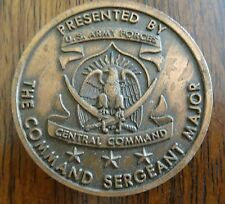 Challenge Coin US Army Forces Central Command Sergeant Major Winners Never Quit
