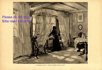 In Grandmother´s room XL 1920 art print by Kaspar Klaus costume mourning +